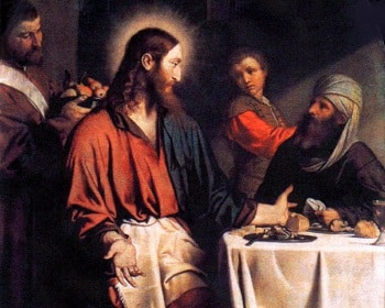 Jesus eating with Pharisees